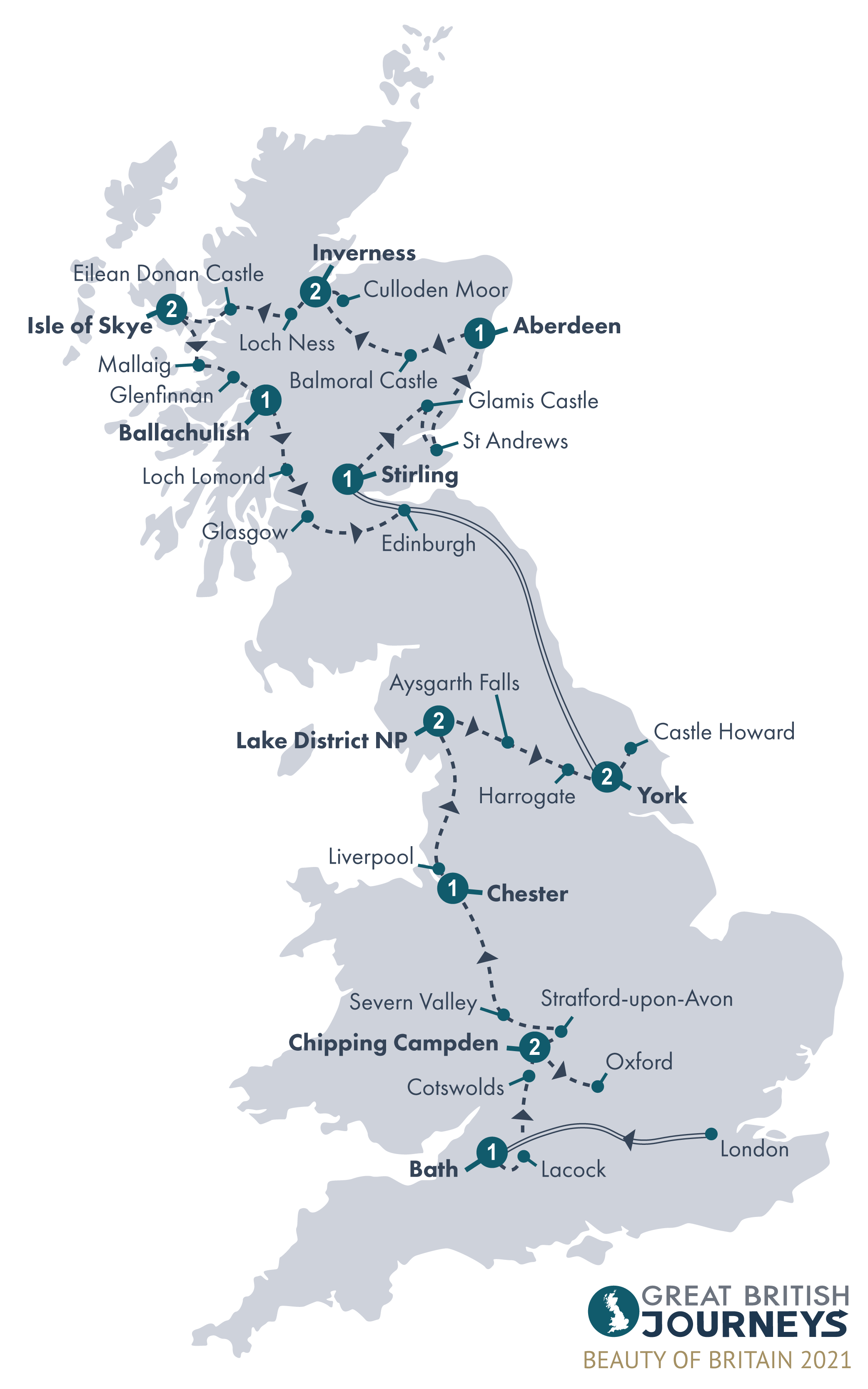 Map - Beauty of Britain 2021