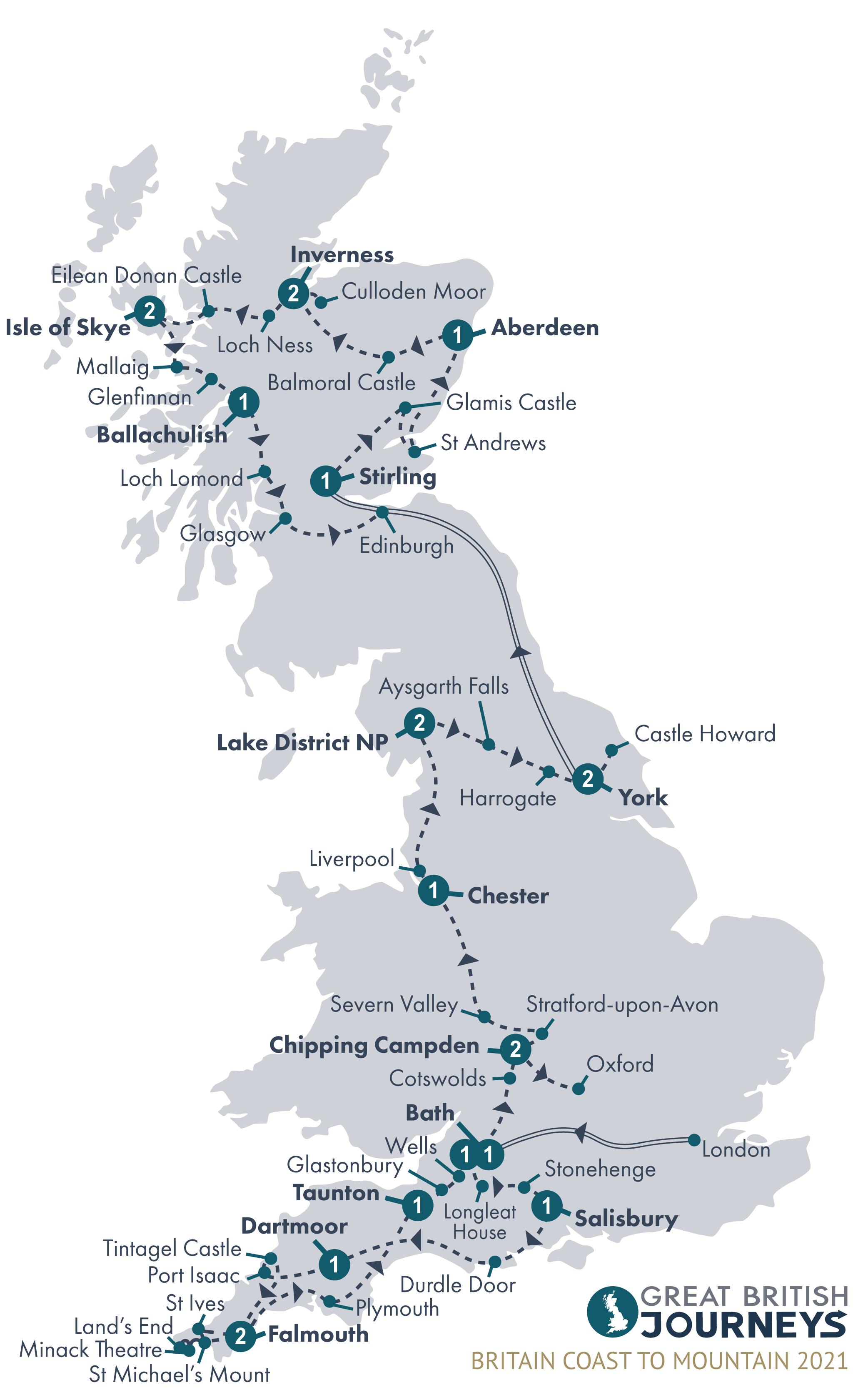 Map - Britain Coast to Mountain 2021