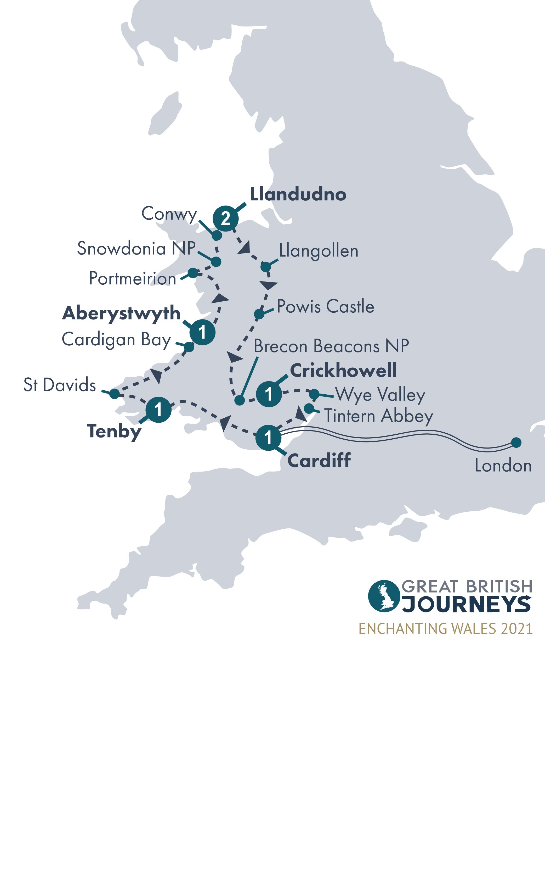 Map - Enchanting Wales 2021